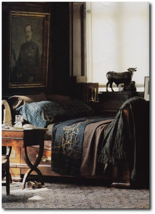 1984. Photo by Bruce Weber Seen On The Art Of The Room Blog 500x691 The Romantic Side Of Ralph Lauren Home