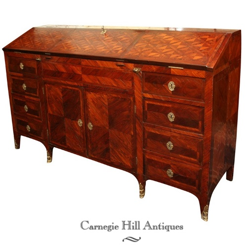 Louis XV Rosewood parquetry writing desk French Styled Louis Desks