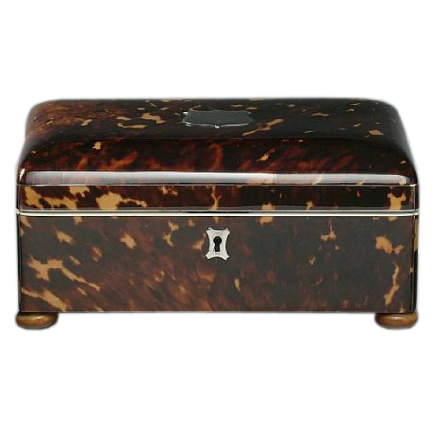 Tortoiseshell Tea Caddy Seller Daniel Stein Antiques
