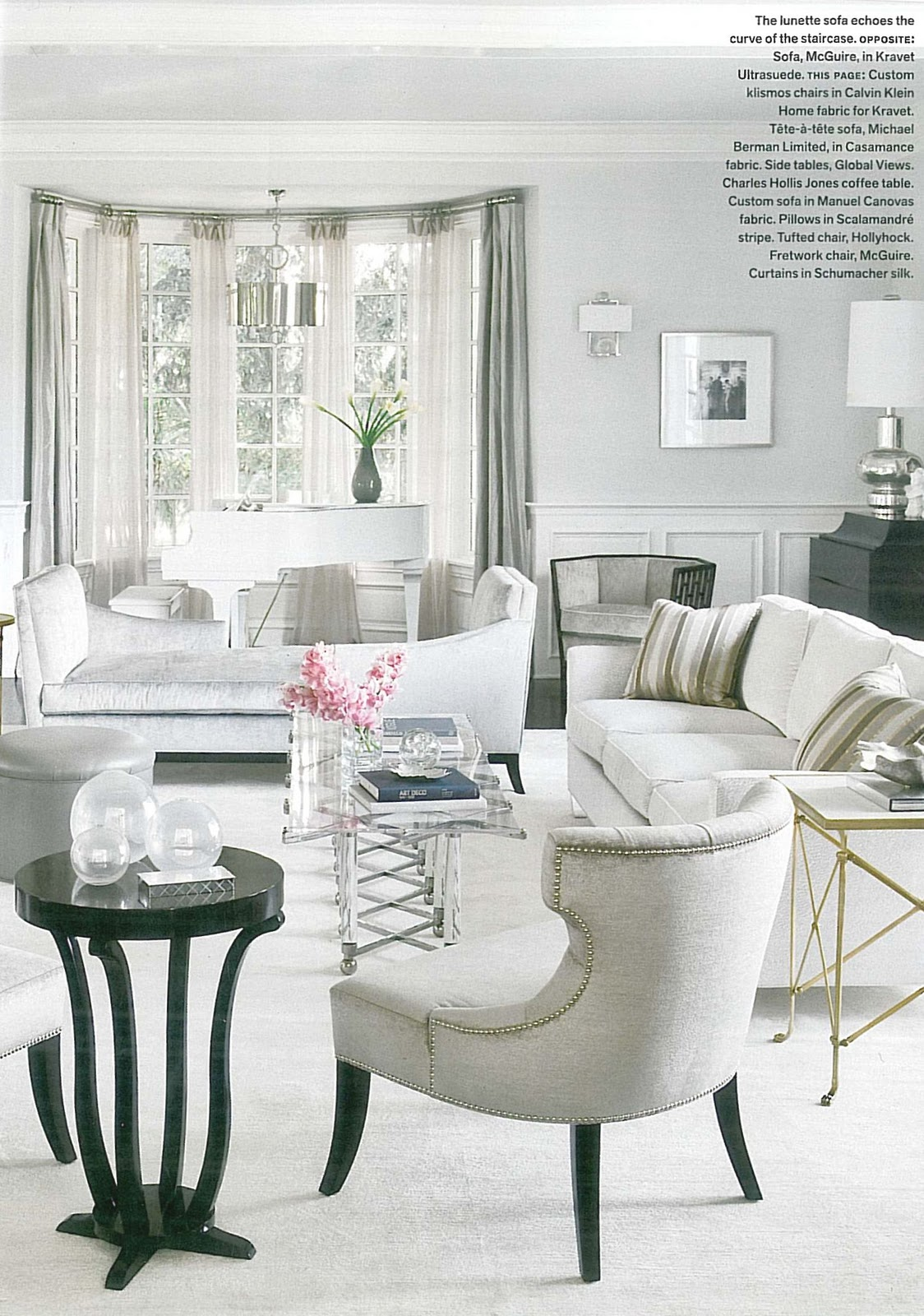 Directoire Tables in Jennifer Lopezs Home Featured in