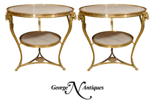 French Tables1 500x336 French Style Guéridon Directoire Tables