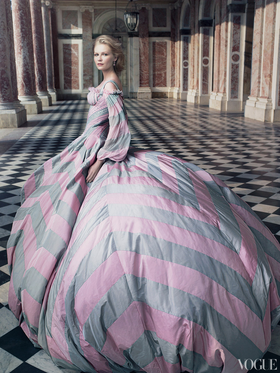 Marie Antoinette Behind The Scences For Vogue Magazine