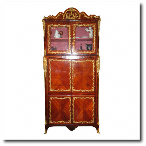 Antique French Louis XV Style Rosewood Cabinet Vitrine From Vintage Views Consignment And Consulting1 500x500 Exceptional Rare French Antique Furniture