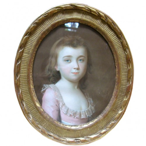 18th Century Pastel Portrait Of A Girl Signed Schmid 1784 Belvedere Antiques 500x500 Decorating With Pastels For A French Styled Home