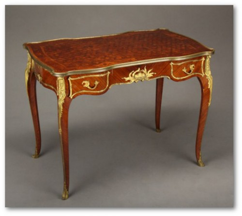 A French Ormolu Mounted Desk by Francois Linke 500x4431 500x446 Exceptional Rare French Antique Furniture