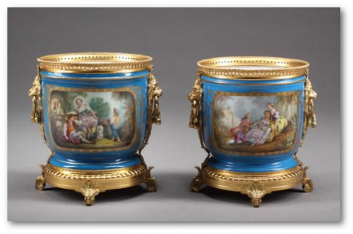 A pair of 19thC. French Sevres hand painted vases 500x3211 500x331 Exceptional Rare French Antique Furniture
