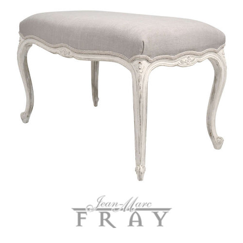 Antique Louis Bench White and Cream French Furniture