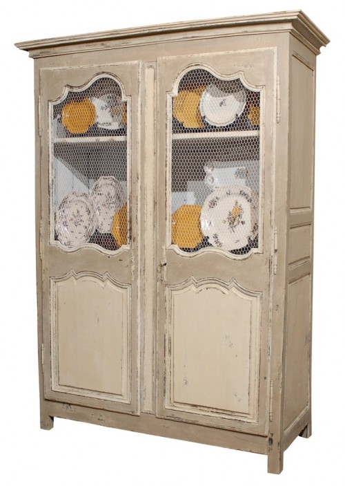 Antique Painted French Armoire 500x703 White and Cream French Furniture
