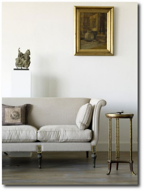 Asli Tuncas House in İstanbul 500x662 White and Cream French Furniture