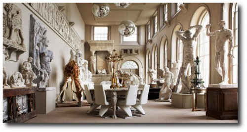 Aynhoe Park main salon photographed by Marianne Taylor1 500x267 Decorating With Pastels For A French Styled Home