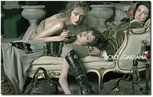 Dolce Gabbana and DG FallWinter 2009 Ad Campaigns 500x316 Decorating With Pastels For A French Styled Home