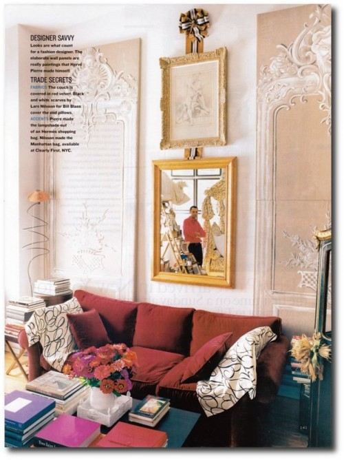 Flair Play Herve Pierre House and Garden Nov 2002 James Waddell 3 500x668 Decorating With Pastels For A French Styled Home