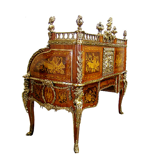 French Louis XV Cylinder Desk French Louis XV Cylinder Desk