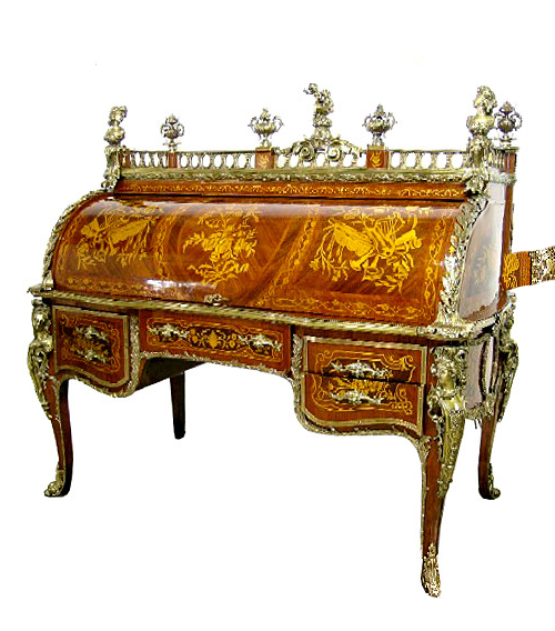French Louis XV Cylinder Desk1 French Louis XV Cylinder Desk