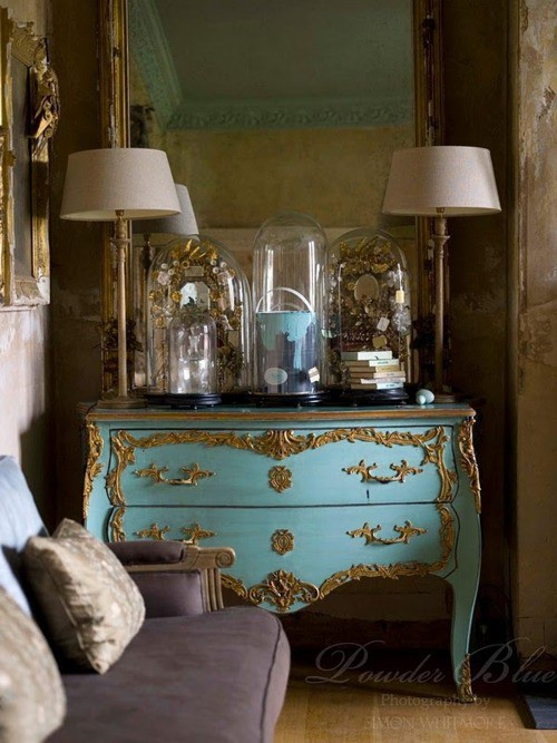 French Painted Louis XV Chest in Blue Decorating With Pastels From FRench Madame Blog French Painted Louis XV Chest in Blue   Decorating With Pastels From FRench Madame Blog