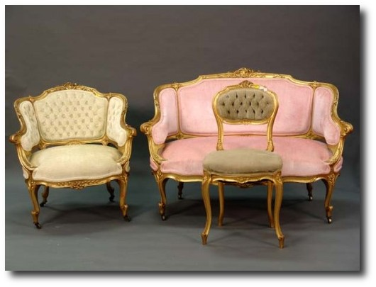 Louis XV Style Gilt Rococo Parlor Suite From Nadeau Auction1 500x3751 Decorating With Pastels For A French Styled Home