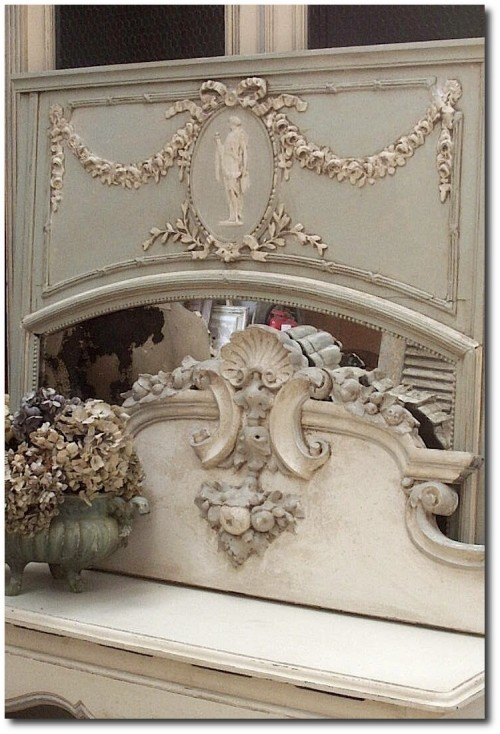 antique french mirrors eclectiv Revisited 500x734 White and Cream French Furniture