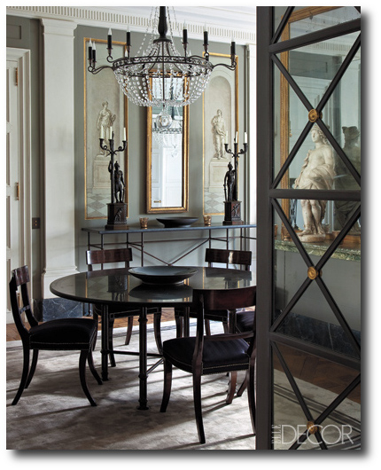 French style directoire tables for Elle decoration france