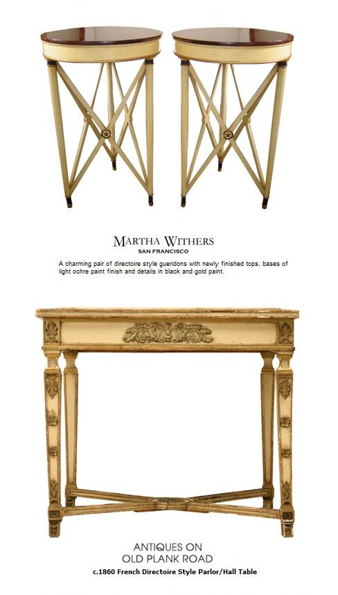 French Directoire Console Table and Side Tables French Style Directoire Tables
