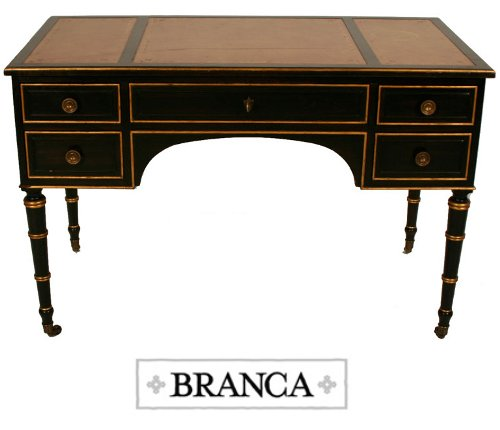 A Neoclassical Gilt and Black Painted Desk by Maison Jansen How To Paint Black Furniture A Dozen Examples Of Exceptional Black Painted Furniture