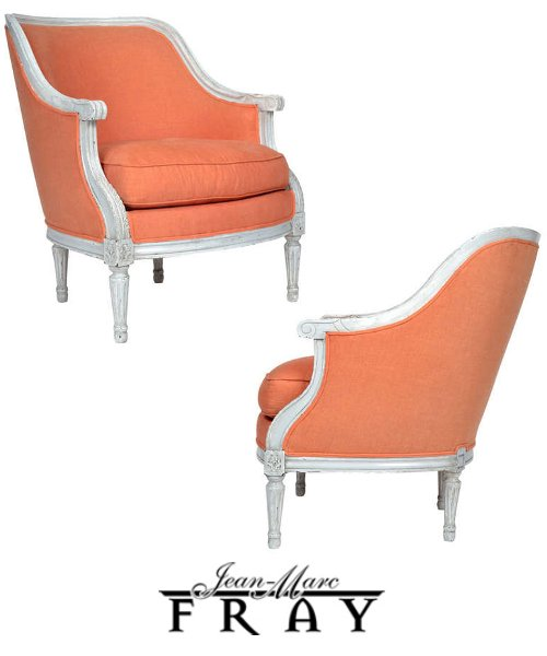 Antique Pair of Louis XVI Style Bergères 10 Ways To Use Pink, Orange and Coral In Your Home