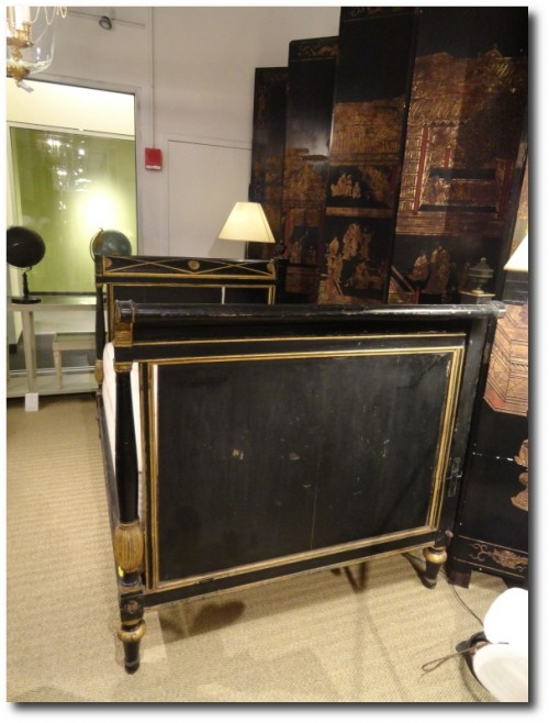 Black Painted French Antiques 500x658 How To Paint Black Furniture A Dozen Examples Of Exceptional Black Painted Furniture