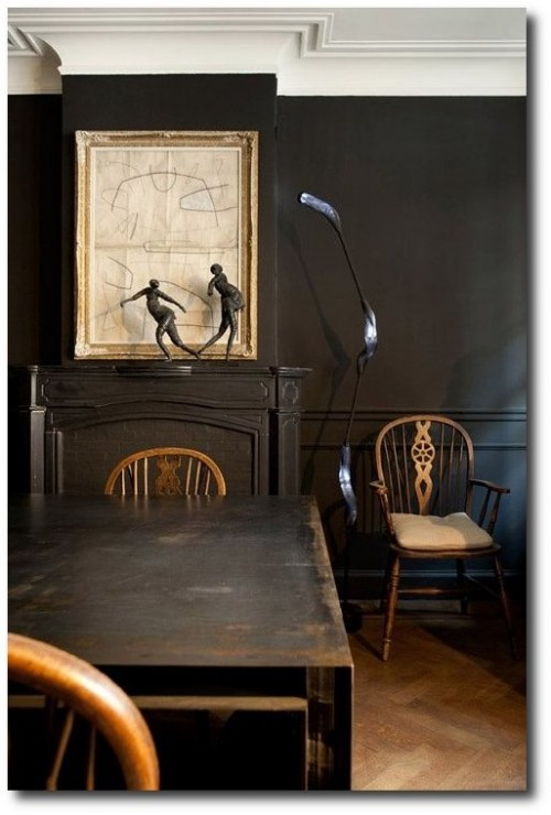 Distressed Black Paint Finishes 500x740 How To Paint Black Furniture A Dozen Examples Of Exceptional Black Painted Furniture