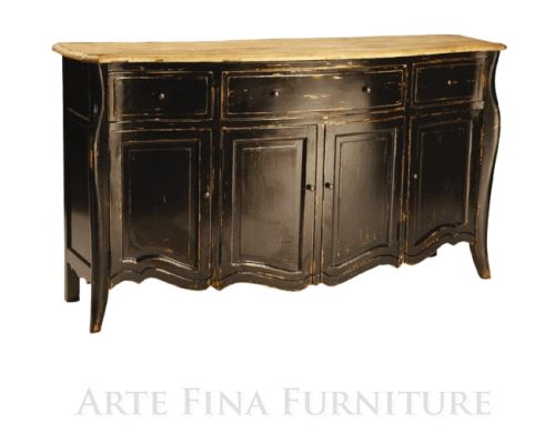 French Provincial Styled Buffet From Arte Fina Furniture 500x4611 How To Paint Black Furniture A Dozen Examples Of Exceptional Black Painted Furniture