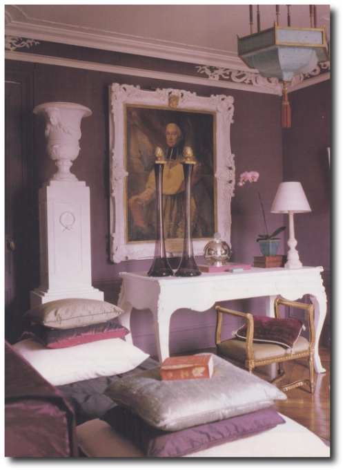 French Style Interiors French Style Furniture Michael Coorengel Jean Pierre Calvagrac3 500x683 How TO Decorate With Purple In French Styled Interiors