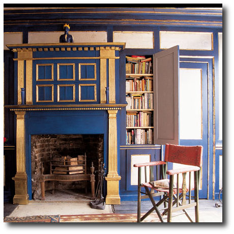 Gold and Electric Blue How TO Decorate With Purple In French Styled Interiors