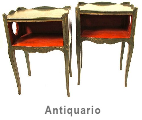 Pair of French Painted Bedside Tables How to Add Color Into Your Home With Confidence