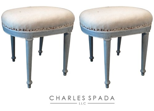 Pair of Painted Directoire Stools How to Add Color Into Your Home With Confidence