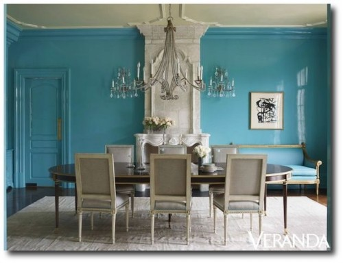 Suzanne Kasler 500x384 How to Add Color Into Your Home With Confidence