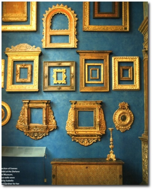 Veranda's September issue featured a collection of frames on exhibit at the Stefano Bardini Museum 500x618 How to Add Color Into Your Home With Confidence