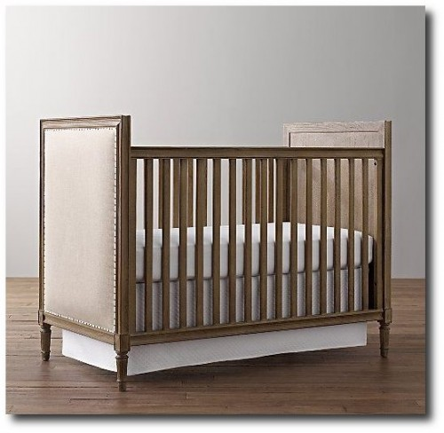 Marcelle Crib Restoration Hardware Baby and Child 500x488 French Style Childrens Furniture