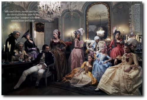 Marie Antoinette Annie Leibovitz Kirsten Dunst 18th Century French 11 500x342 Marie Antoinette Behind the Scences For Vogue Magazine