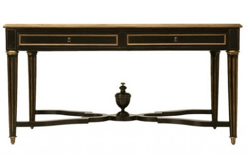 1870 French Napoleon III Ebonized Writing Table w Bronze Trim Antiques on old plank road1 500x312 A Little Bit Of Provence In Your Home