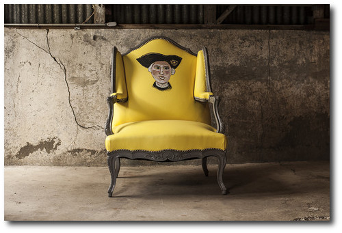 A whimsical yellow chair in a rustic barn Designer Hutton Wilkinsons 4 Tips For A Unforgettable Home