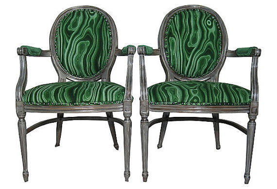 Beau French LouiS XVII Arm Chairs Malachite Emerald Green 500x340 Designer  Hutton Wilkinsons 4 Tips For A