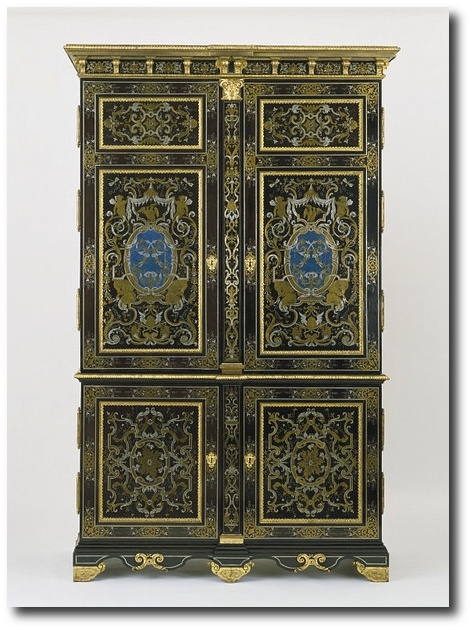 Cupboard Paris France ca. 1700 Extravagant French Marquetry Tables