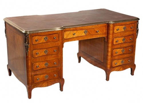Louis XV Transition Style Partners Desk 500x361 French Style Partners Desks
