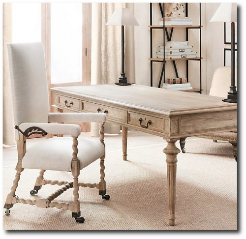 Restoration Hardware French Partners desk 500x486 French Style Partners Desks