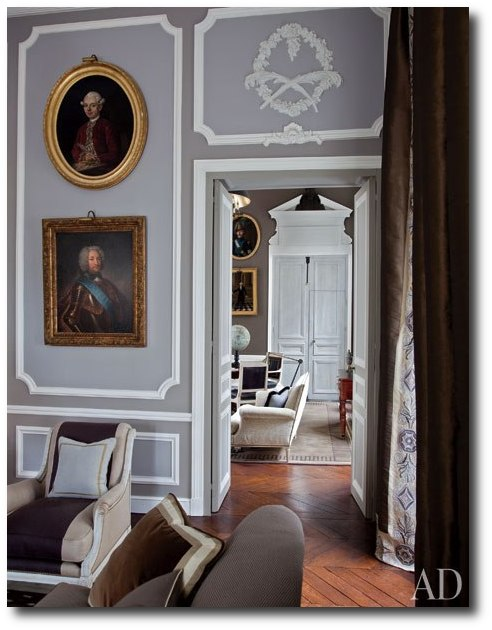 item4.rendition.slideshowWideVertical.jean louis deniot 05 living room library Decorator Jean Louis Deniot  French Interiors, French Furniture, Paint Finishes, French Paneling, French Chairs