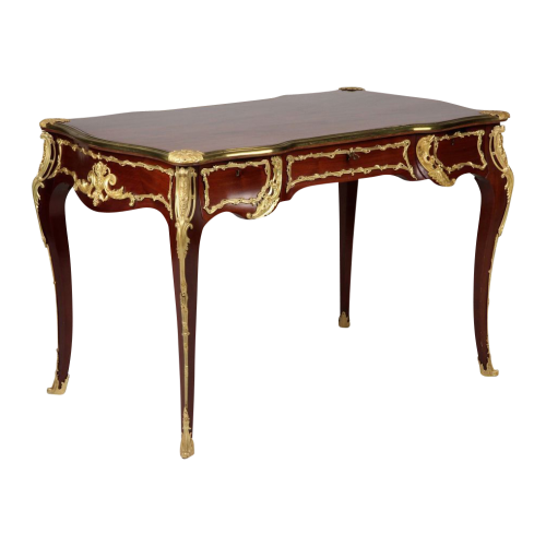 French Louis XV Style Antique Desk Bureau Plat with Gilt Bronze Mounts P.E. Guerin NY 500x500 Worlds Most Beautiful French Hardware