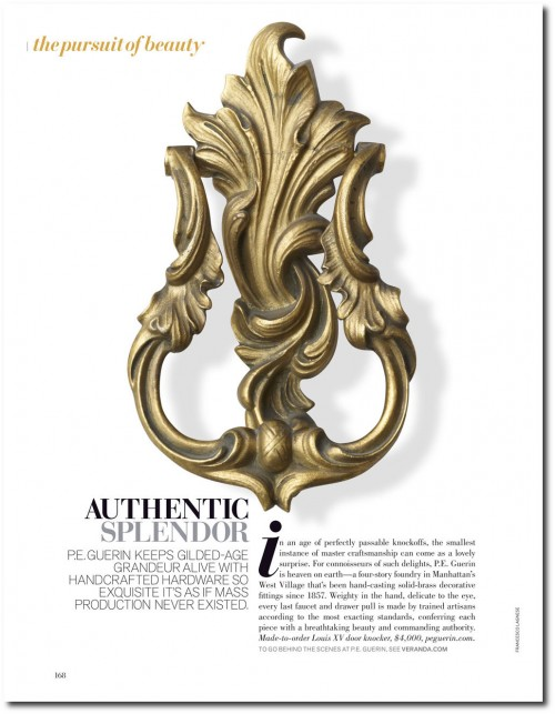 Veranda Magazine Stunning Hardware French Hardware 500x643 Worlds Most Beautiful French Hardware