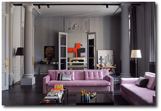 Apartment of french designer florence baudoux for Interiors paris