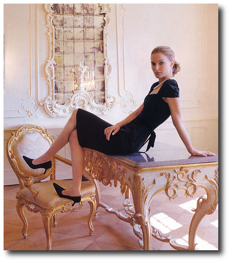 Natalie Portman appears in British VOGUE October 2005 Furniture Terms Explained