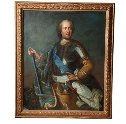 18th Century Oil on Canvas Depicting a Portrait of King Louis XV 1710 1774 From Hadassa Antiques 500x492 Decorating With Dark Brown  French Styling