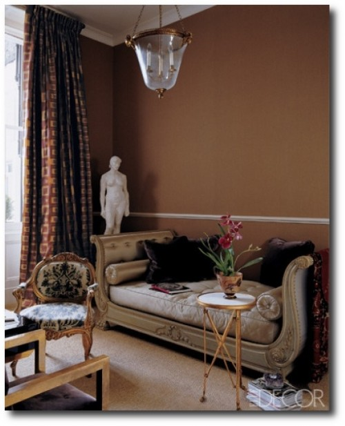 Alex Papachristidi 500x617 Decorating With Dark Brown  French Styling