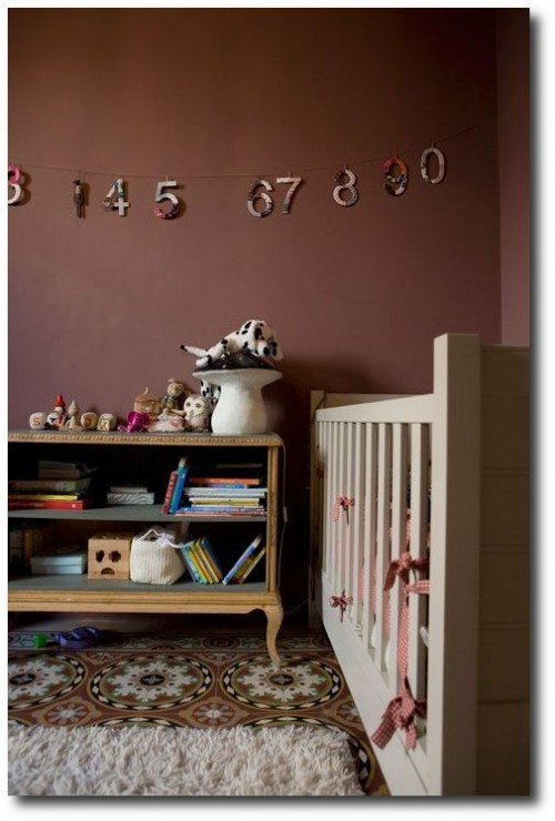 Brown and White Nursery 500x740 Decorating With Dark Brown  French Styling